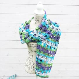 Window Pane sjaal paars groen blauw