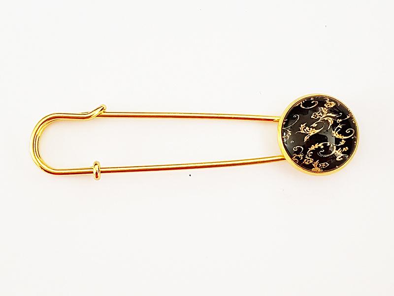 Vestspeld barok zwart/goudkleur - TSH00252