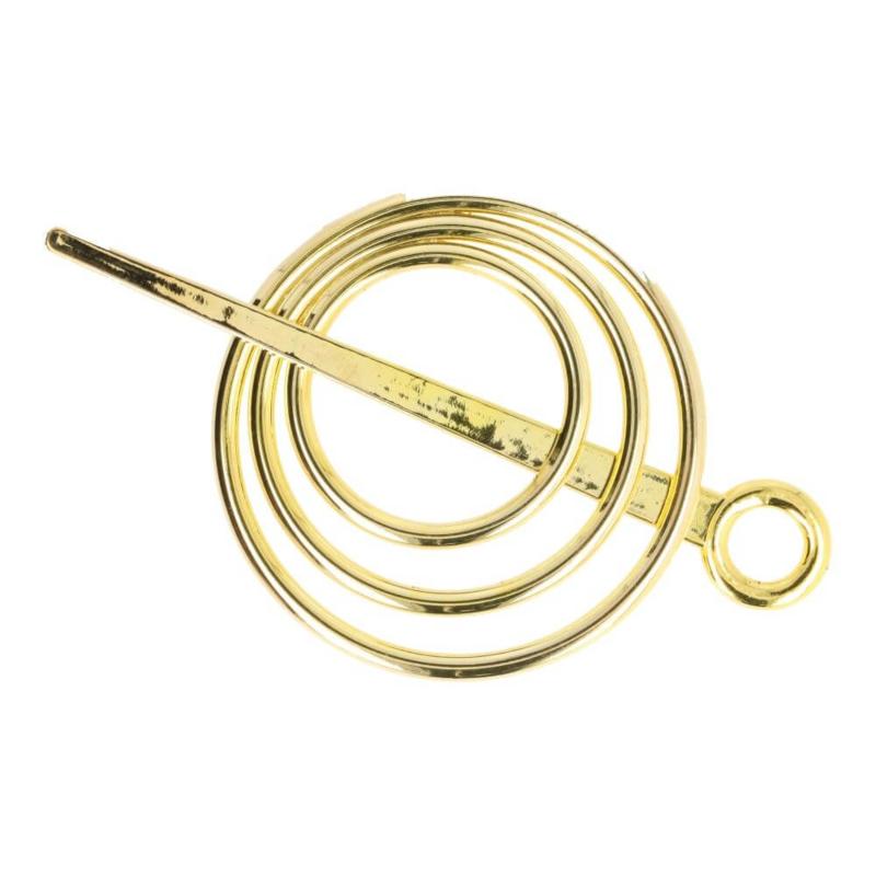 Vestspeld 3 cirkels goudkleur - D13370