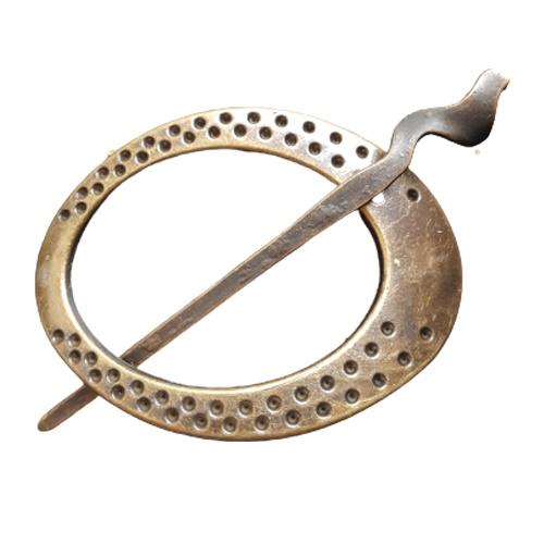 Vestspeld ovaal bronskleur met motief - D14150