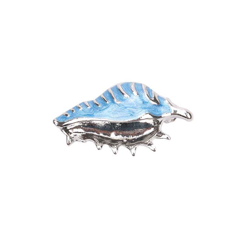 Broche schelp blauw