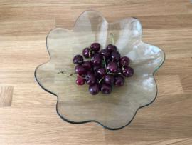 Glazen Fruitschaal met geschulpte rand