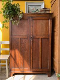 Donkere houten kast - Art Deco