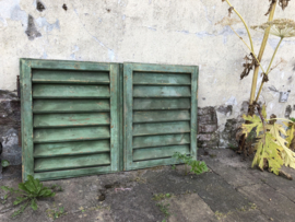 Twee oude luikjes groen