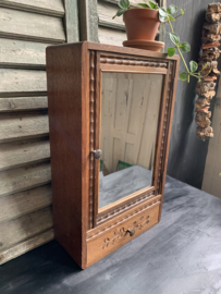 Wandkastje met spiegel vintage