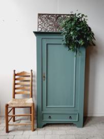 Houten kast 1-deurs groen