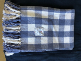 Plaid, blauw/wit geblokt (Lexington)