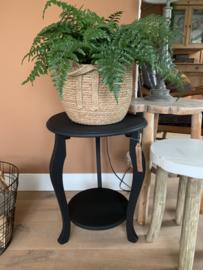 Bijzettafeltje | plantentafeltje zwart
