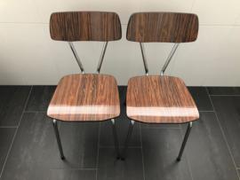 2 formica stoelen bruin - RETRO