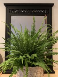 Spiegel met zwarte lijst 83 cm hoog