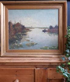Schilderij landschap - olieverf