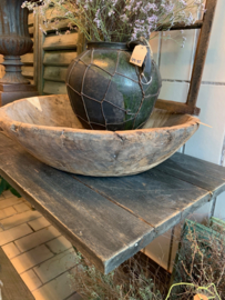 Grote houten schaal Ø54cm