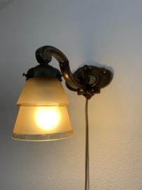 Wandlamp koper | goud matglas