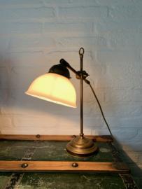 Bureaulamp messing | glas - 40 cm