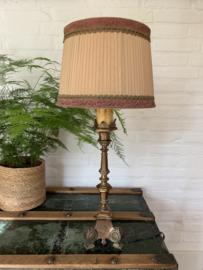 Franse Tafellamp koperen voet