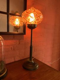 Staande lamp glazen dichte kap