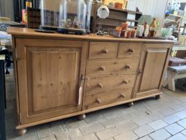 Blank houten dressoir - 205 cm