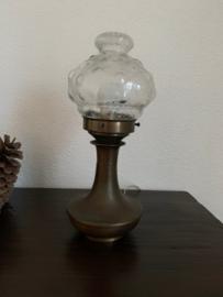 Tafellamp Brons|Glas