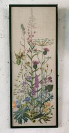 Borduurwerk veldbloemen