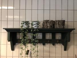 Groene houten kapstok met console