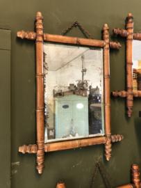 Spiegel bamboe - retro - 50 cm