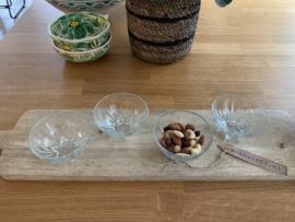 Glazen schaaltjes 4 stuks