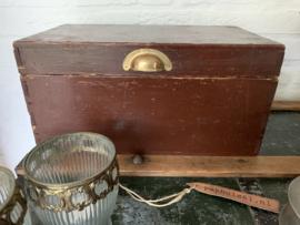 Kistje van hout - donkerrood