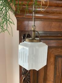 Hanglamp melkwit glas - Art Deco