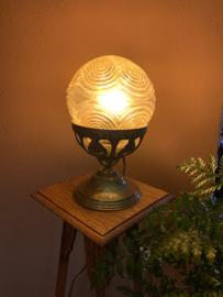 Tafellamp glazen bol