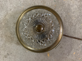 Plafondlamp rond - glas | messing