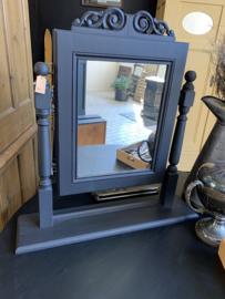 Staande spiegel matzwart - 74 cm