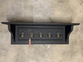 Zwart houten kapstok met console
