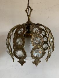 Spaanse hanglamp - koper met kristallen