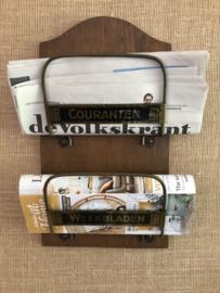 Kranten- en tijdschriftenrekje
