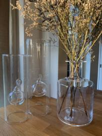 Set twee olielampen van glas
