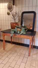 Frans tafeltje zwart blad