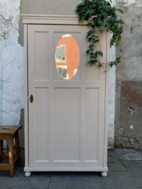 Houten kast 1-deurs nude