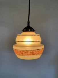 Hanglampje met gedecoreerd glas