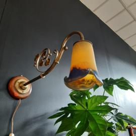 Wandlamp koper Art Nouveau