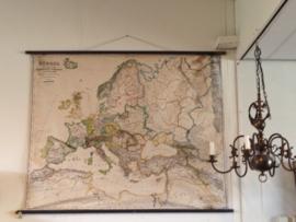 Oude geografische kaart van Europa