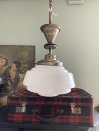 Hanglamp melkwit glas Art Deco