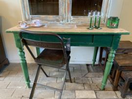 Kleine tafel   bijzettafel groen
