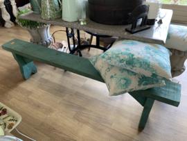 Groen bankje 180 cm lang