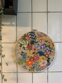 Borduurwerk Bloemen - Ø 35 cm