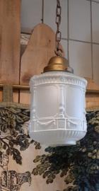 Hanglamp ArtDeco gesatineerd glas