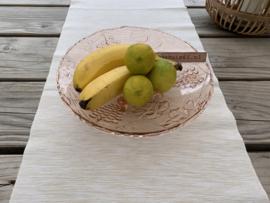 Glazen fruitschaal op pootjes