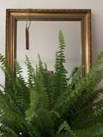 Spiegel goudkleurige lijst - 60 cm