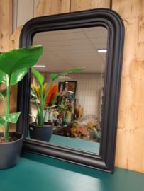 Spiegel met zwarte lijst - 73 cm