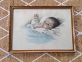 'Awakening' ingelijste baby afbeelding