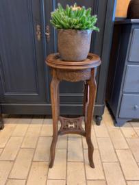 Hoge plantentafel hout|marmer